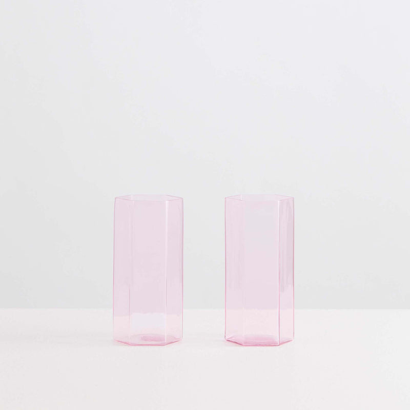 Coucou Tall Glass Set Pink