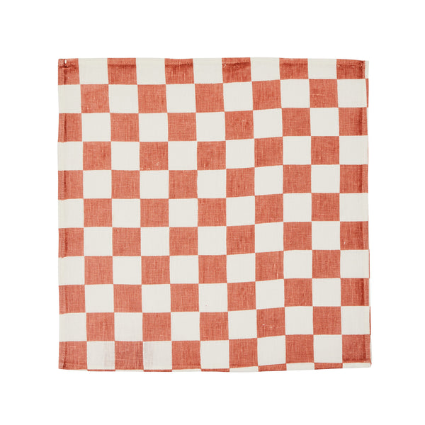 Small Checkers Terracotta (set of 6)