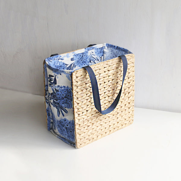 Flowering Gum Blue Handwoven Tote