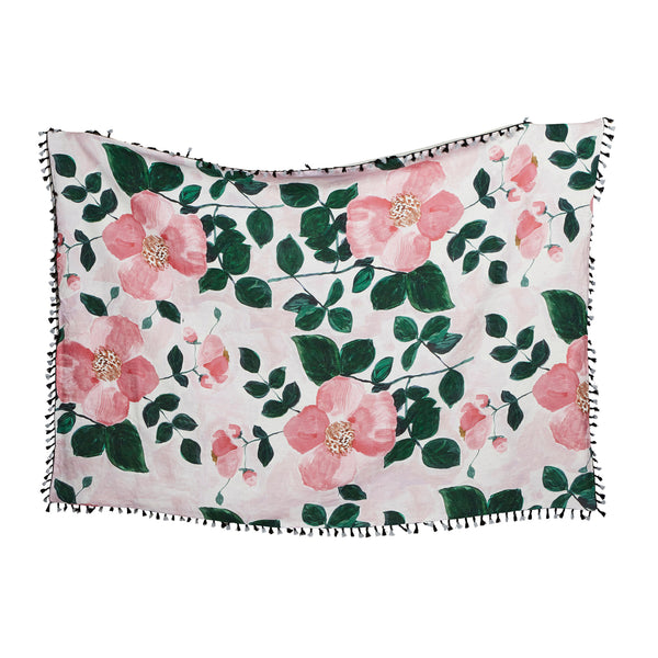 Tea Rose Pink Throw