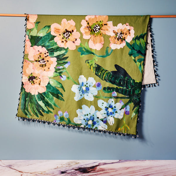 Tropical Olive Throw