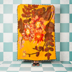 Poppy Saffron Throw