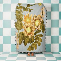 Poppy Light Blue Throw