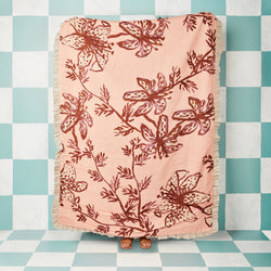 Spotted Tiger Lily Peach Throw