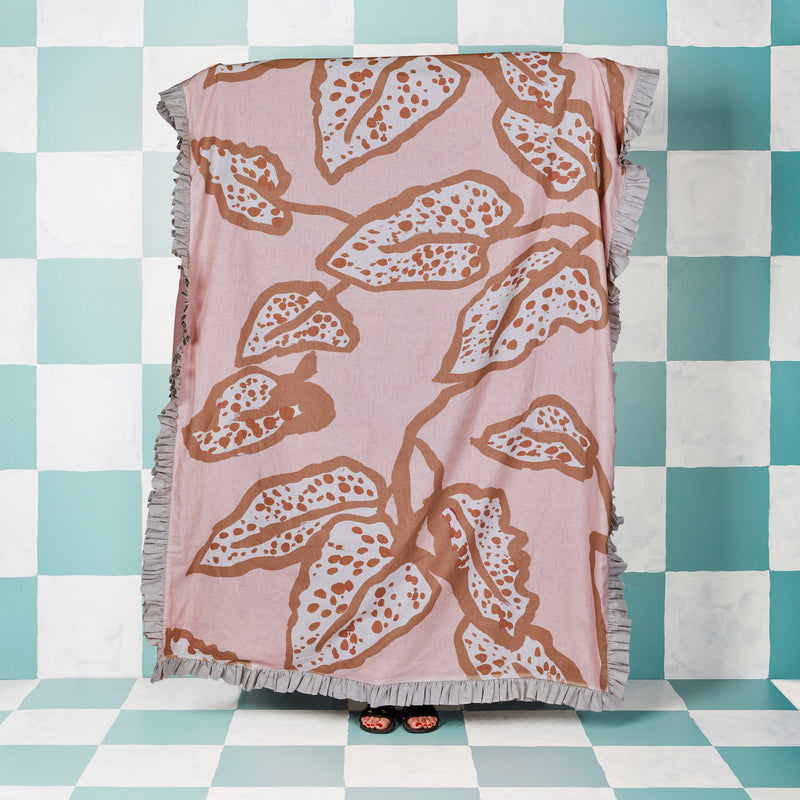 Spotted Begonia Nude Throw