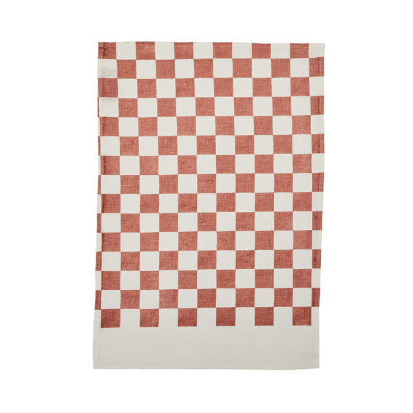 Small Checkers Terracotta