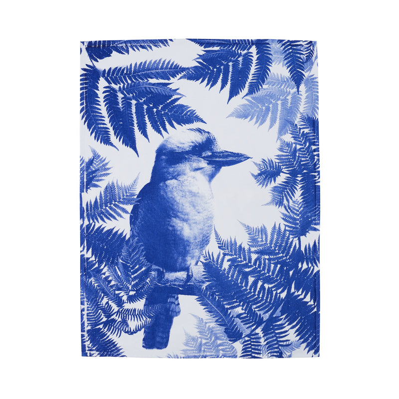 Kooka Fern Blue Cotton