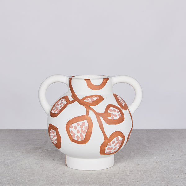 Spotted Begonia Terracotta Short Vase