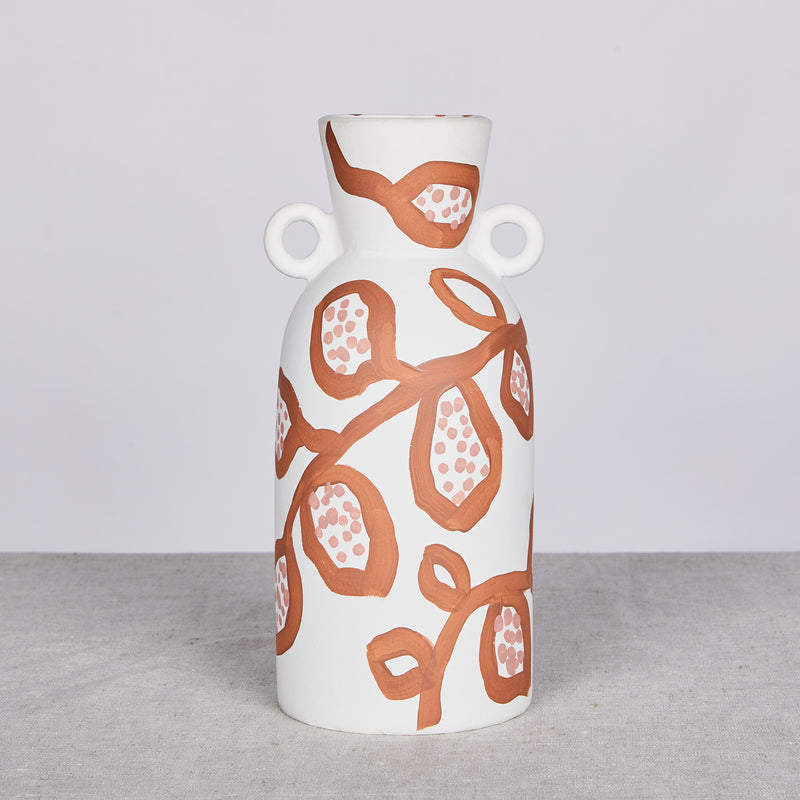 Spotted Begonia Terracotta Tall Vase
