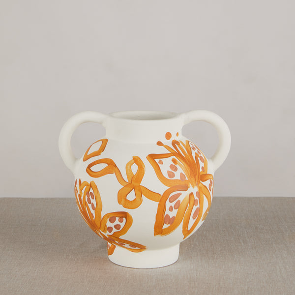Spotted Tiger Lily Golden Short Vase