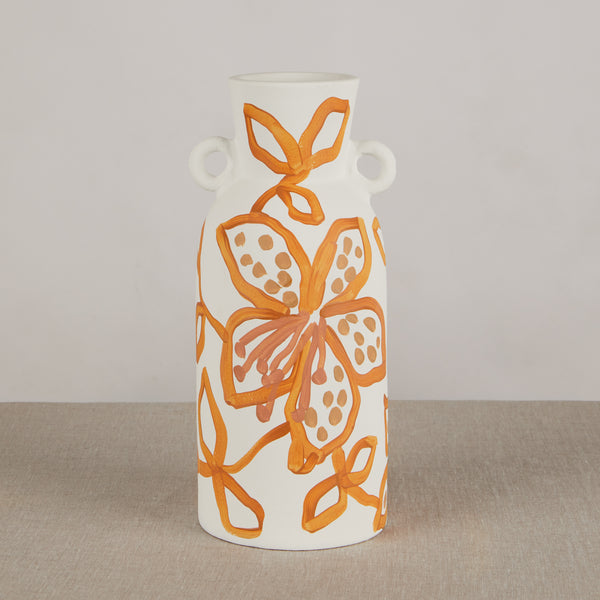 Spotted Tiger Lily Golden Tall Vase