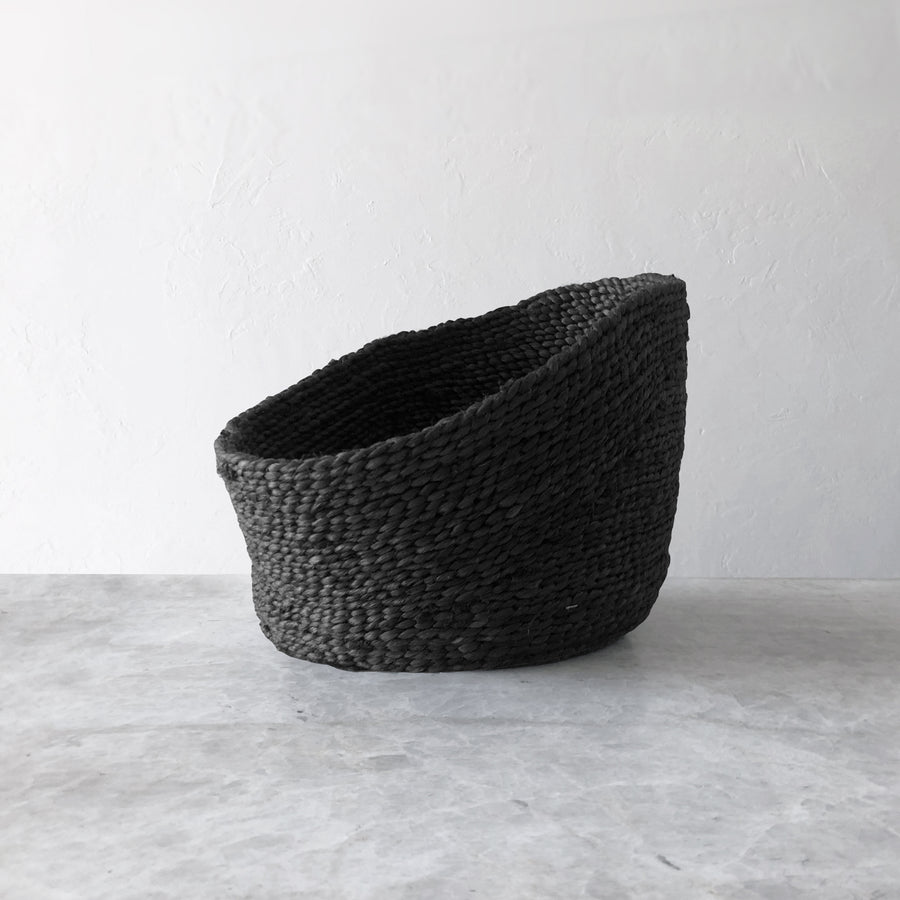 LODI JUTE FRUIT BASKET BLACK