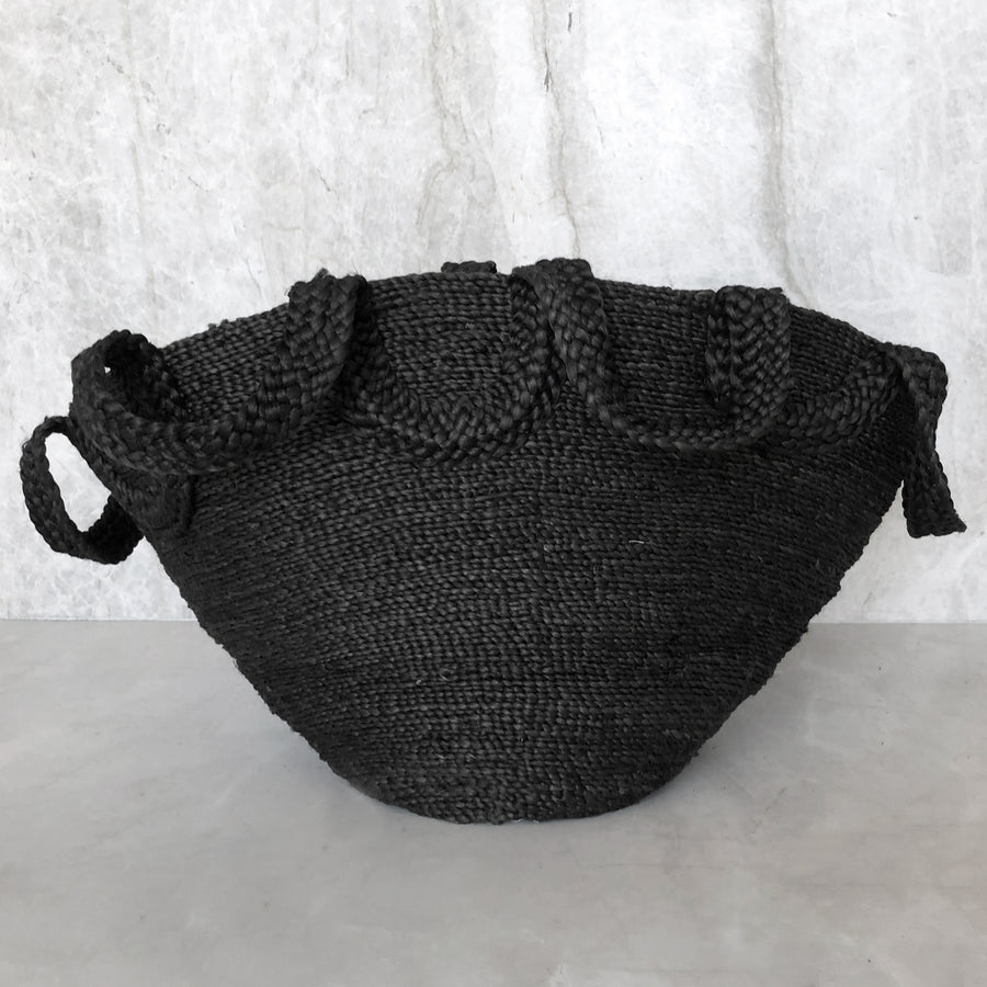 ECOLE MEETING JUTE BASKET DESERT BLACK