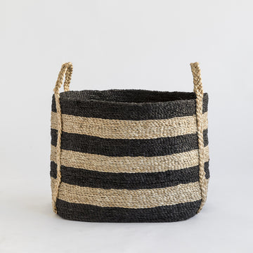 ANDAMAN MEDIUM JUTE BASKET STRIPE SALE