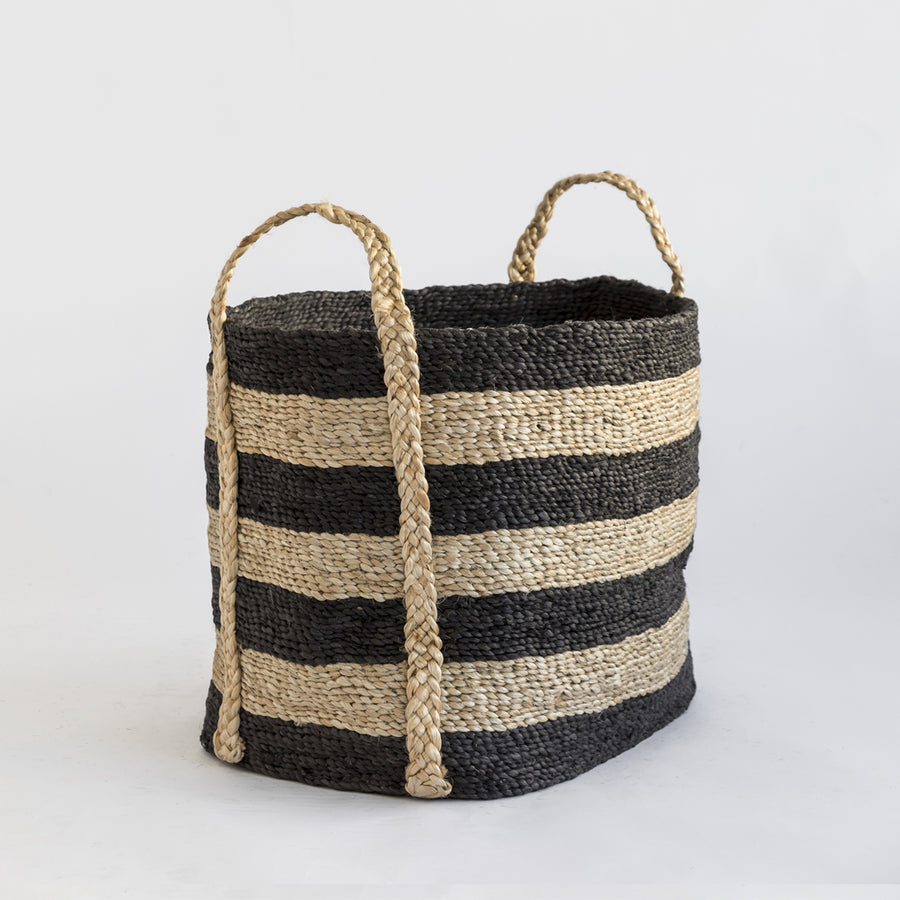 ANDAMAN MEDIUM JUTE BASKET STRIPE