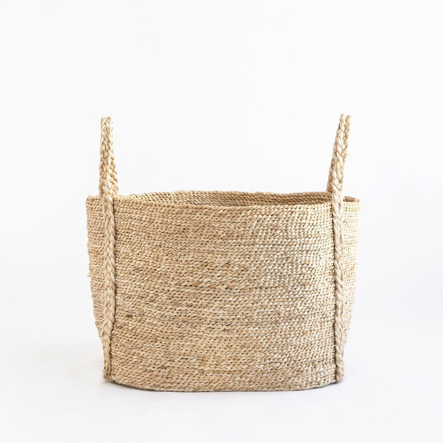 BAZAR MEDIUM WIDE FRINGE JUTE BASKET