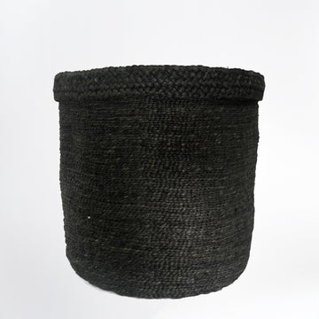 ASSEMBLY ROUND TALL JUTE BASKET DESERT BLACK