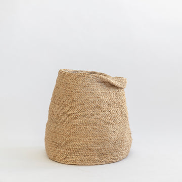 J'Jute BULL JUTE dried floral PITCHER Natural