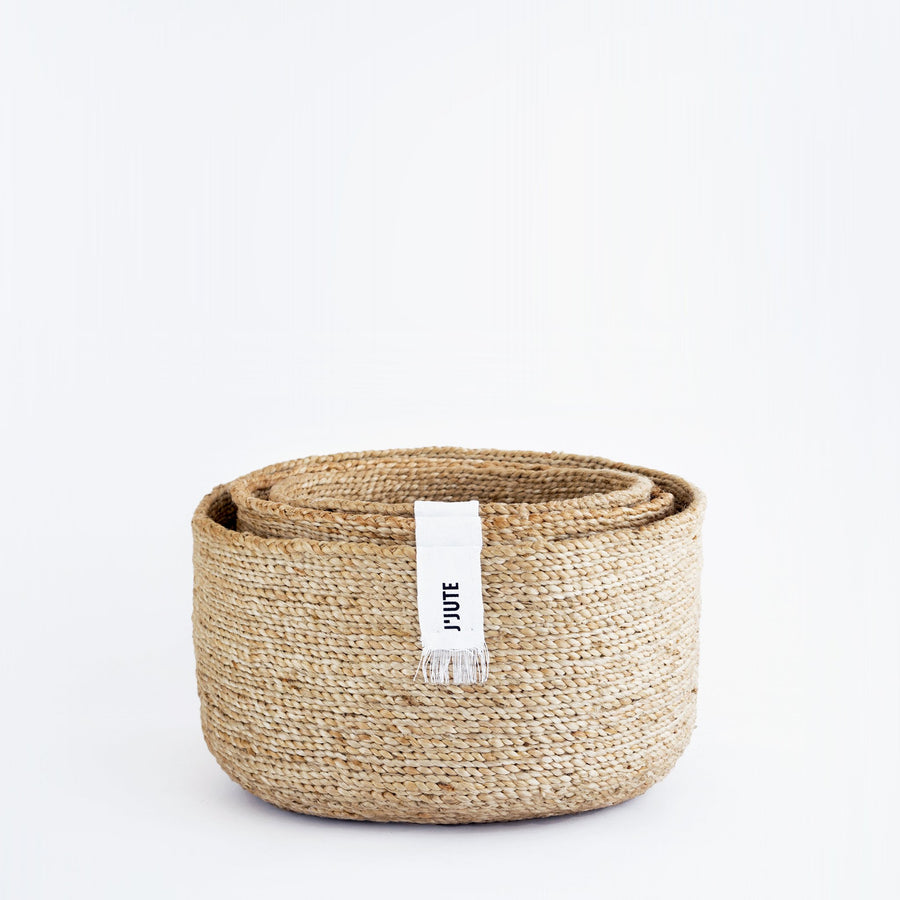 EDITION ROUND SET OF 3 JUTE BASKETS
