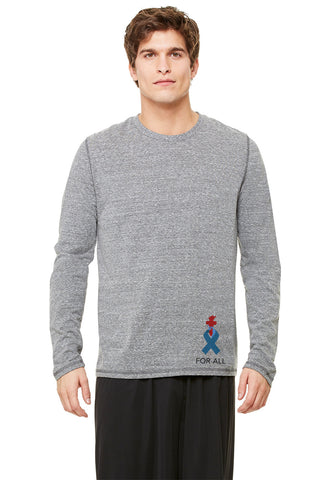 Liberty & Justice Men's Performance Triblend Long Sleeve Tee ACLU Torch Ribbon