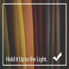 Silk Vs. Polyester - hold it up to the light