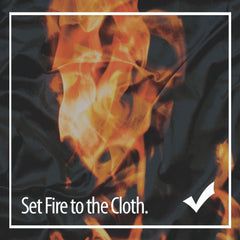 Silk Vs. Polyester - set fire to the cloth