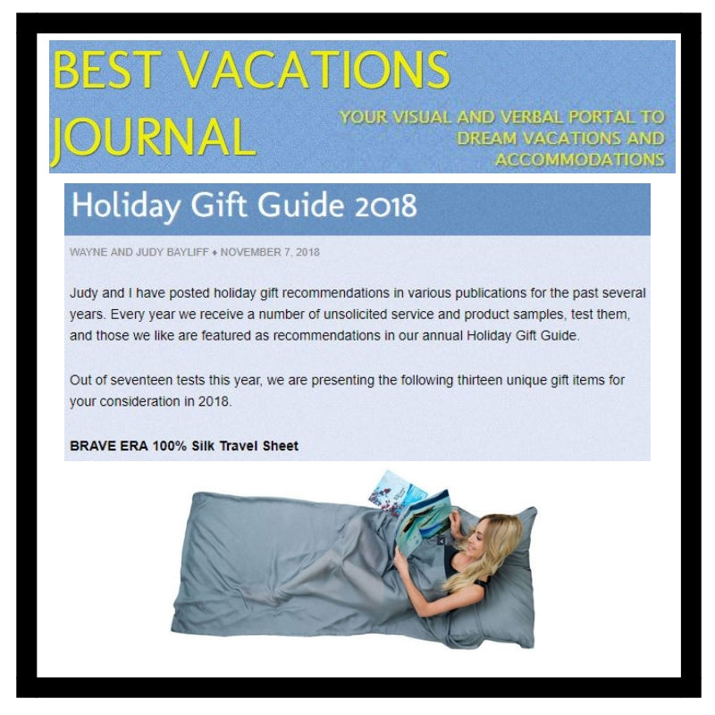 Holiday season is gift giving season or even all year round for your traveler friends who happen to celebrate their birthday. Let's see what Best Vacations Journal have listed down for their holiday gift guides.