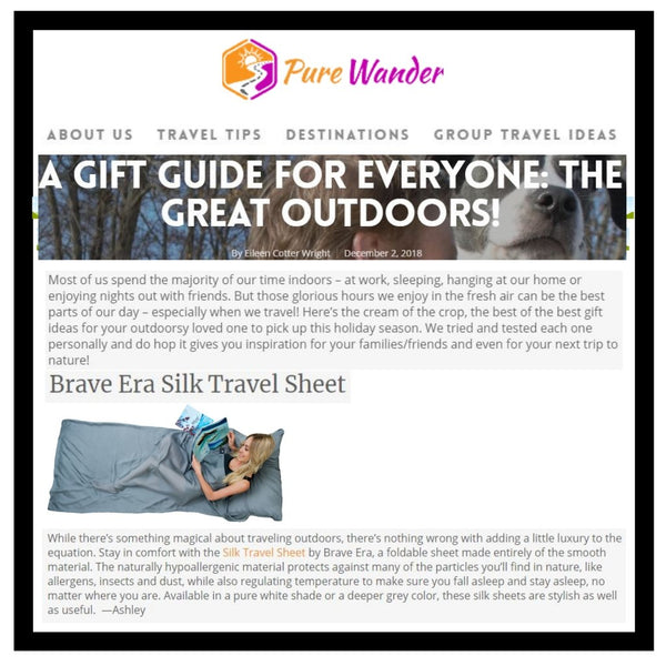 Here is Pure Wander's Gift Guide for the Outdoor Enthusiasts