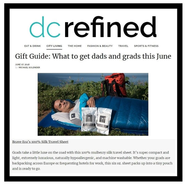Brave Era Gets Featured in DC Refined for their Father's Day and Graduation Gift Guide