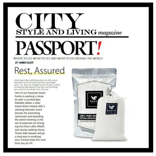 """City Style and Living Features The Brave Era Travel Sheet as a Perfect """"Shut Eye"""" Accessory"""