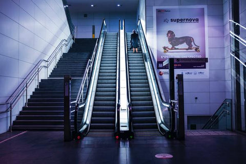 Cleanliness Tips for a Safer and Cleaner Travel - two escalators beside each other