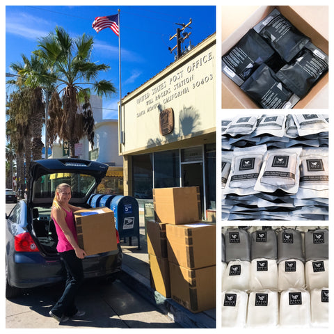 Nichole Alden, CEO of Brave Era, sending off her first product shipment