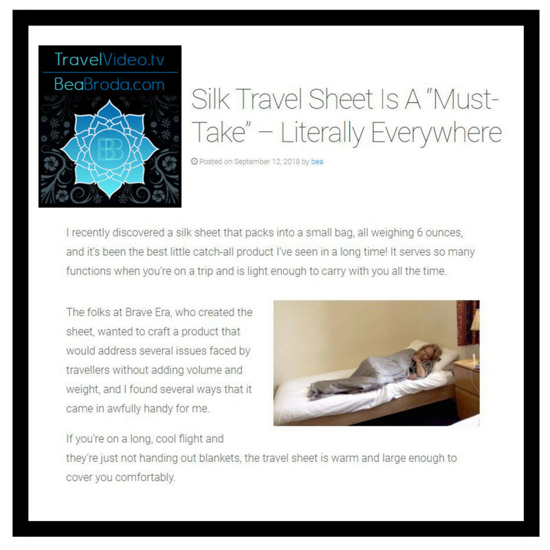 "Silk Travel Sheet Is A ""Must-Take"" – Literally Everywhere"