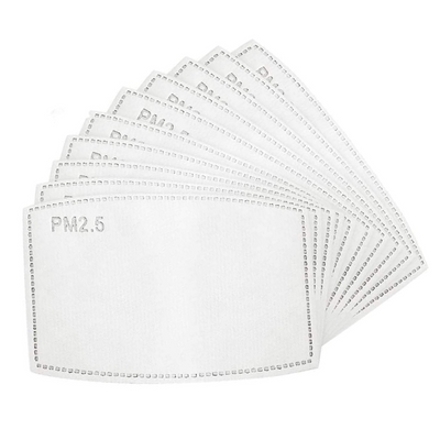 PM2.5 Activated Carbon Filter Disposable Face Mask Inserts (100 Filters) by BRAVE ERA