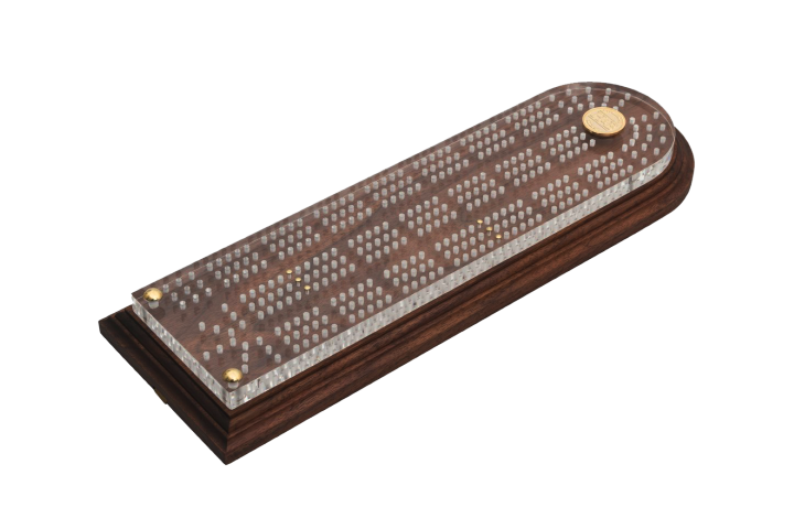 Crib Board - The Fourteen - Husk & Brown
