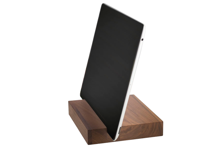 Tablet Holder - The Slab - Husk & Brown