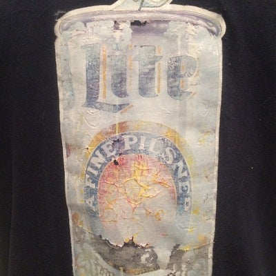 80's Miller Lite 3/4 Sleeve Iron On Tee