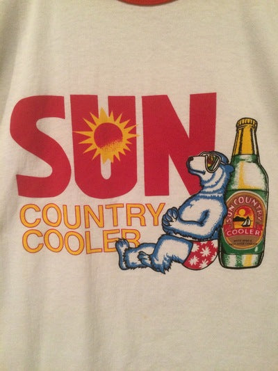 1980's Sun Country Wine Cooler Ringer Tee
