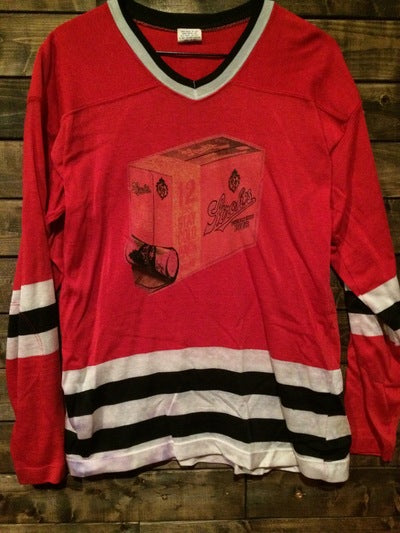 Stroh's Beer Iron On Nylon Hockey Jersey