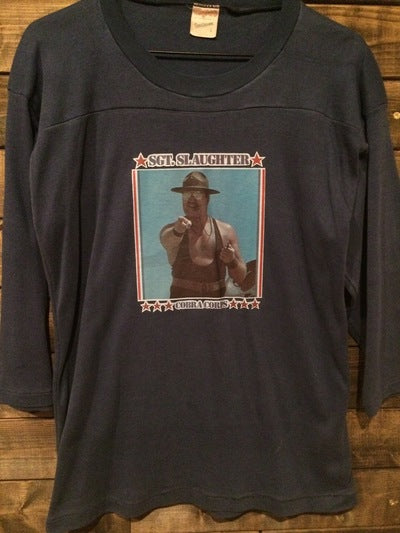 Sgt. Slaughter Iron On 3/4 Sleeve Heavy Tee
