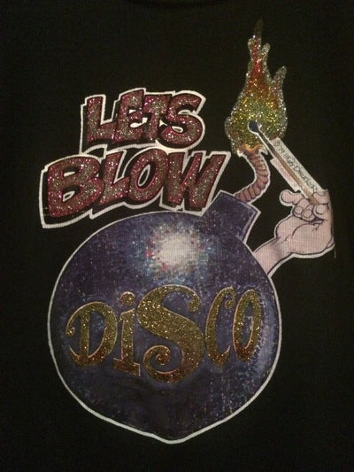Women's Blow Up Disco Iron On Tee