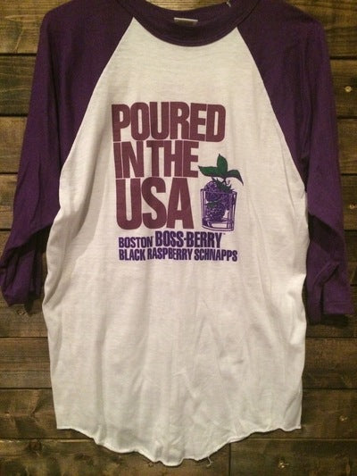 80's 3/4 Sleeve Grape Schnapps Jersey Tee