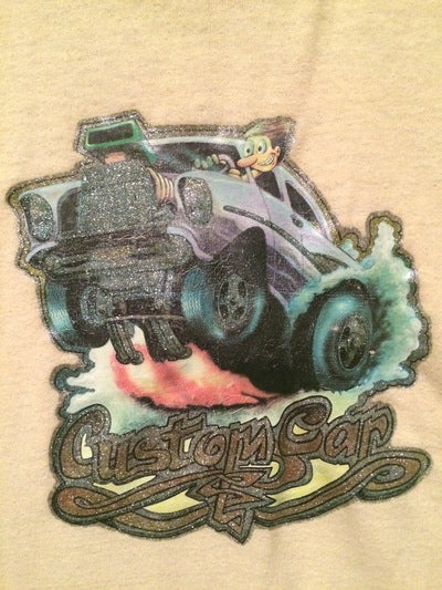 Custom Hot Rod Car Iron On Tee
