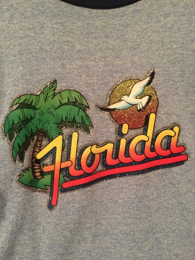 Florida Iron On Ringer Tee