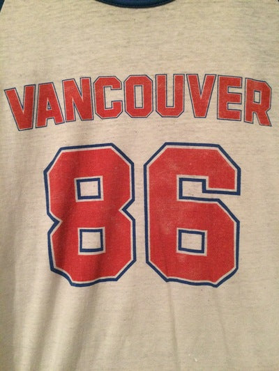 1986 Vancouver 3/4 Sleeve Jersey Tee