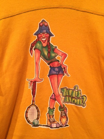 Tennis Iron On 3/4 Sleeve Tee