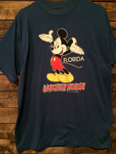 2 Sided Mickey Mouse Florida Velva Sheen Tee