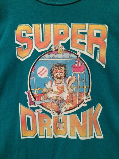 80's Champion Brand Super Drunk Iron On Tee