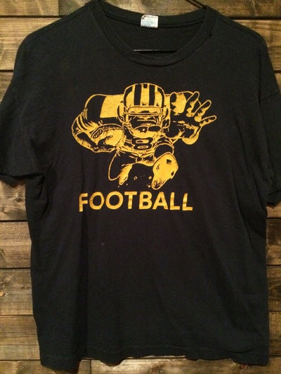 1970's Champion Blue Bar Distressed Football Tee
