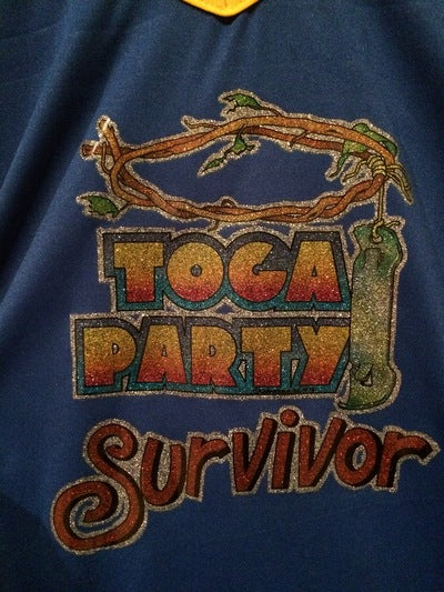 Polyester Toga Party Survivor Tee